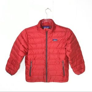 Patagonia Boys Down Puffer Jacket Coat Red Small 8